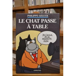 BD occasion Geluck Le Chat tome 19 - Le chat passe à table