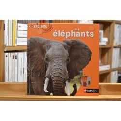 Les éléphants Kididoc animaux Nathan Documentaire 6 ans jeunesse livre occasion Lyon